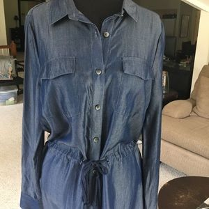Johnston & Murphy denim look shirt dress (NWT)